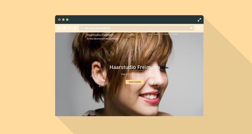 Webseite Friseur München