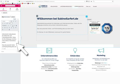 Web Design mit CMS